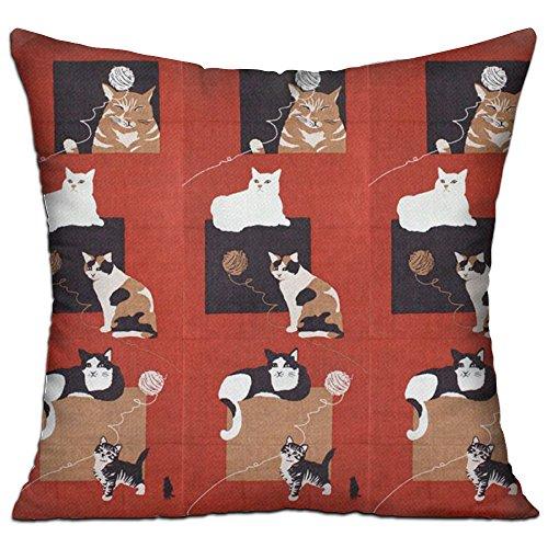 猫柄 高品質 低反発 座布団 クッション 椅子用 かわいい ...