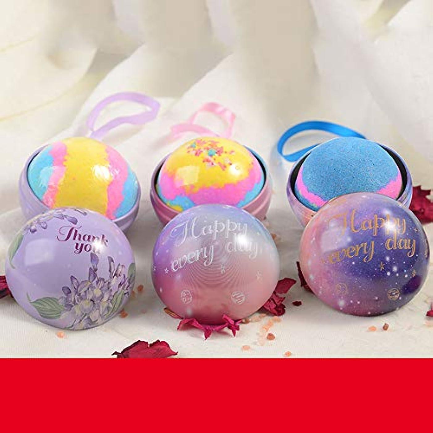 多年生製作テクスチャーバスボム 入浴剤 炭酸 バスボール 6つの香り 手作り 入浴料 うるおいプラス お風呂用 入浴剤 ギフトセット3枚 贈り物 プレゼント最適