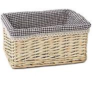 手作りの竹製品竹のバスケットバスケット竹の篩太郎のストレージのバスケット青い家庭の排水を洗浄する果物メイクの収納ボックス収納ボックス