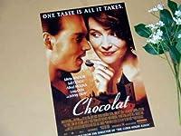 1.小ポスター、米国版「ショコラ」ジョニー・デップ