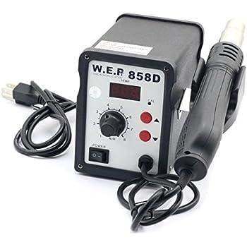 WEP 858D ミニステーション はんだごて SMD、SOIC、CHIP、QFP、PLCC、BGA