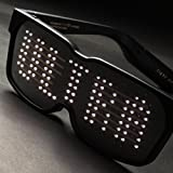 Chemion スマートグラス Smart LED Glasses/ Bluetooth LED グラス ウェアラブルデバイス CHON-100A Black