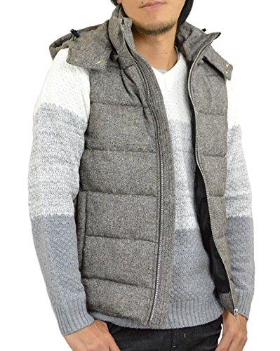 [해외](아다마스) ADAMAS 트위드 베스트 안솜 페이크 다운 베스트 남성/(Adamasu) ADAMAS tweed vest cotton fake down vest men`s