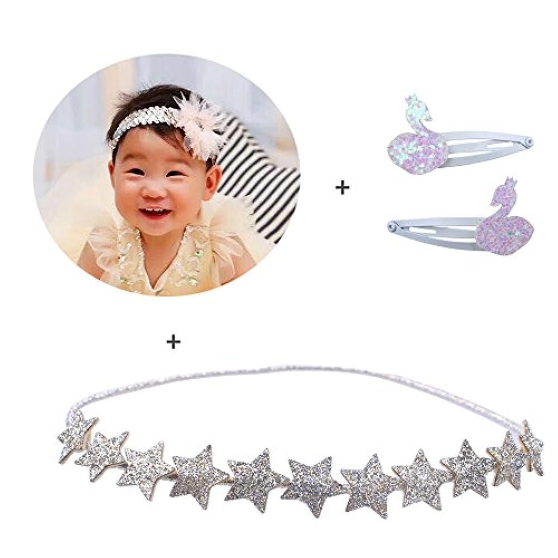 kimmykuベビー乳児幼児用ヘッドバンドヘアリボンクリップヘアアクセサリー