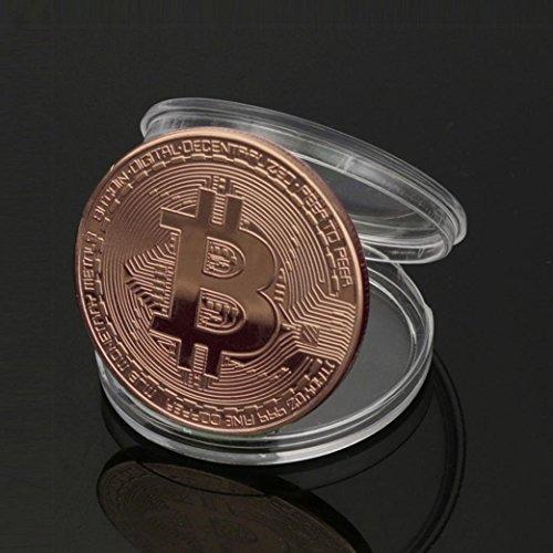ビットコイン Bitcoin Collectible ギフト バーチャル レプリカ 仮想 通貨 コイン グッズ アートコレク メッキ ライトコイン 記念硬貨 コレクション 一枚入り (銅色)