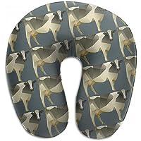Merlin Quintina ポリゴン 牛 抱き枕 U字型クッション 首枕 ネッククッション 旅行ピロー360度快適な睡眠 子宮頸椎 保護 ポータブル