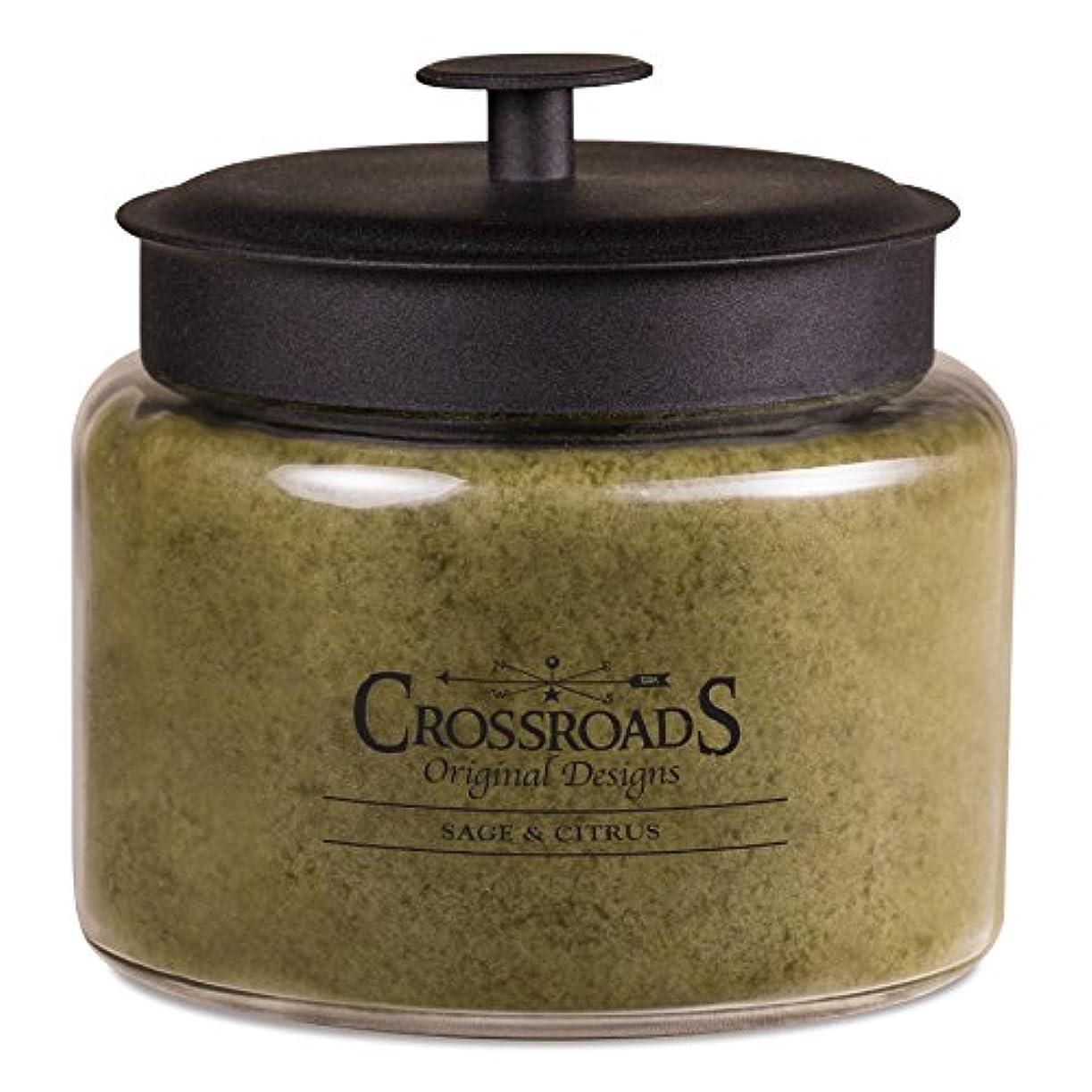 脆い誘発する準備するCrossroadsセージ&シトラス香りつき4-wick Candle, 64オンス