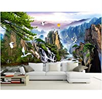 Wuyyii 3Dの壁紙カスタム壁画の不織布探検中国の古典的な風景画のテレビの壁の写真の壁紙3D