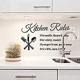 SUND キッチン ウォールステッカー 壁紙シール ウォールペーパー 壁飾り 台所 レンジ KITCHEN RULES