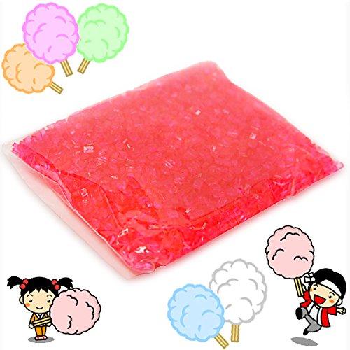 綿菓子用 カラーザラメ イチゴ 100g入
