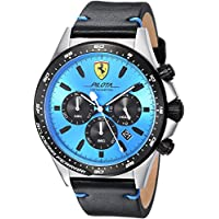 ブルー メンス アナログ カジュアル クォーツ Ferrari 時計 Pilota ???? 0830388