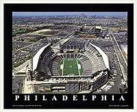 ポスター マイク スミス フィラデルフィア(ペンシルバニア) -リンカーンフィナンシャルフィールド(イーグルス・ファースト)- 額装品 ウッドベーシックフレーム(ホワイト)