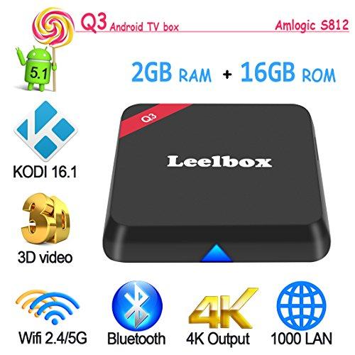 eelbox Q3 Android TV BOX Amlogic S812 Octo Core Gpu Android 5.1 2GB /16GB Dual Wifi 5G/2.4G bluetooth 4.0 1000M LAN