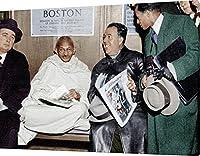 """写真、Mahatma Gandhi , # 030108、さまざまなサイズ、の光沢/マット/キャンバス 16"""" x 24"""" (40 x 60cm) GS.02.102.030"""