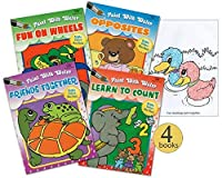 aonefunペイントwith Water Books for Toddlers–ペイントwith Water Books for Kids–ペイントwith Water Coloring Books–バルク値Varietyパック 4 AONE230