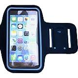 スマートフォン 5.5インチ対応 スポーツ ・ ランニング アームバンドケース アームバンド Xperia / iPhone 6 / iPhone 6 Plus / iPhone 6s / iPhone 6s Plus / iPhone 7 / iPhone 7 Plus など (ブラック)