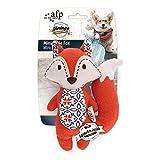 AFP 犬用おもちゃ フワフワ発声装置搭載玩具 ぬいぐるみ中小型犬用(キツネ)