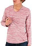 (エドウィン) EDWIN Tシャツ メンズ ブランド 長袖 ロンT 無地 ストレッチ 4color LL ピンク