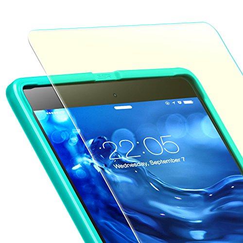 ESR iPad Pro 10.5 フィルム ブルーライト 92% カット 貼り付けガイド枠付け  旭硝子 0.3mm 三倍強化 ガラス 液晶保護フィルム 硬度9H 気泡自動排除 スクラッチ防止 指紋拭きやすい 10.5インチ 専用