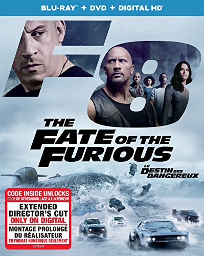 The Fate of the Furious [Blu-ray + DVD + Digital HD] - Imported