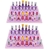 KESOTO 2セット チェスゲーム チェス盤 チェッカー チェスピース 国際チェスセット