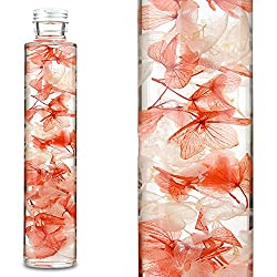 Lulu's ハーバリウム アジサイ ドライフラワー プリザーブドフラワー ボトルサイズ直径45mm高さ215mm ローズピンク Lulu's-0198