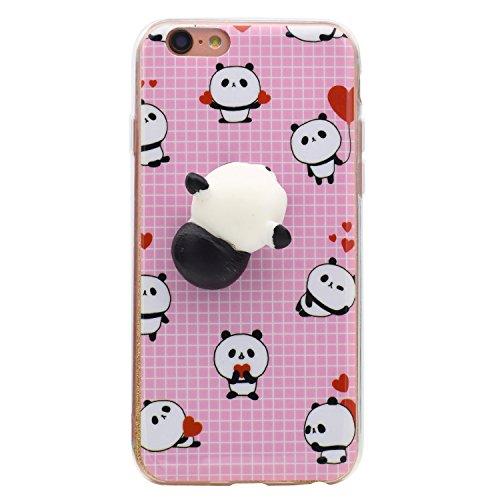 iPhone SE / 5S / 5ケース スクイーズ キャット 携帯 シェル かわいい キュート ソフト シリコン TPU バック カバー スクイーズ フィジェット トイ ストレス解消 iPhone SE / 5S / 5用