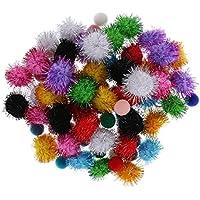 Baosity ポンポン 保育園 約80ピース入り カラーフルな キラキラ ボール 装飾品
