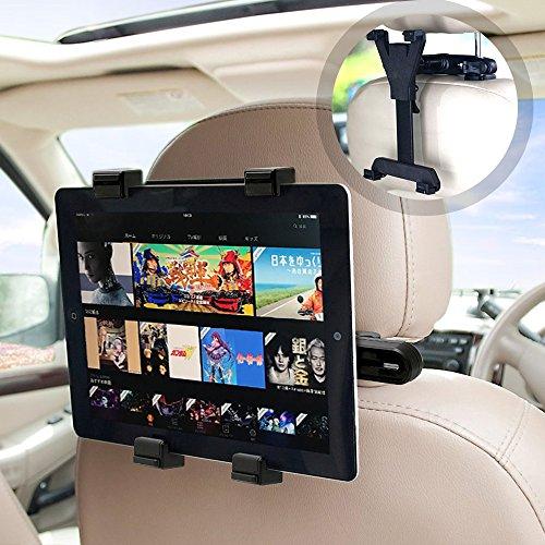 Aodoor タブレットホルダー 車後部座席用 車載ホルダー 調節可能 360度回転式 6-11イン...