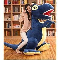 MILEE リアル恐竜 ぬいぐるみ 超大 恐竜おもちゃ特大 座れる 巨大 子供フワフワ抱き枕 柔らか動物 ハロウィン 誕生日ギフト クリスマスプレゼント (ネイビー, 160CM)