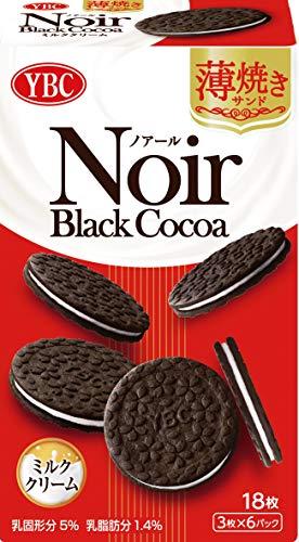 ヤマザキビスケット ノアール薄焼きサンドミルククリーム 18枚×5箱
