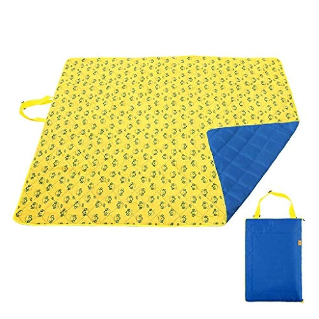 真実その他一貫性のない屋外機洗濯可能なオックスフォード布ピクニックマットマット肥厚テントマットフロアマット公園レジャー (Color : Yellow)