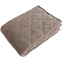 mofua natural 敷きパッド 杢 調 コットン 100% ダブル オリーブ 555503H5