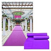 GAOQQI パープルカーペット結婚式ランナーセレモニーアイルVIPカーペットラグ不織布使い捨てロングカーペット (Color : Purple, Size : 1.2X40M)