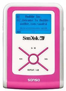 SanDisk デジタルオーディオプレーヤー sansa e100 512MB ピンク SDMX2-512P-J65A