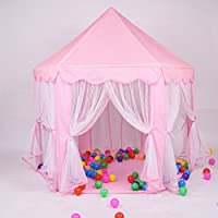 Simply Silver - Kids Toy Play House - Indoor/Outdoor Princess Castle Play House Kids Toy Play Tent for Girls Pink Gift
