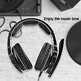 SHENZHEN SADES DIGITAL TECHNOLOGY CO.,LTD.SADES SA810 ステレオゲーミングヘッドセットヘッドフォン、新しいXbox One PS4用,ボリュームコントロール用マイク付きPC(ブラック&グリーン)