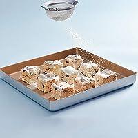 Nuanxin ファミリーキッチンDIVベーキングトレイ、正方形の金の焦げ付き防止のベーキングトレイ、ピザのパンビスケットなどに適しています。 A10 (Size : 28*28*3cm)