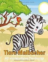 Tiere Malbuecher 40 einzigartiges Tierdesign: Ein Erwachsenen entspannendes Malbuch fuer Maedchen mit niedlichen Pferden, Voegeln, Eulen, Elefanten, Hunden, Katzen, Schildkroeten, Baeren, Kaninchen und vielen mehr!