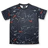 SKULLKICKS(スカルキックス) SKULL MESSAGEゲームシャツ(sk16ss024) (L, 02.ブラック)