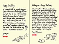 Quiplip Handwritten Yours Truly Birthday Cards 6-Pack (YT06116PCK) [並行輸入品]