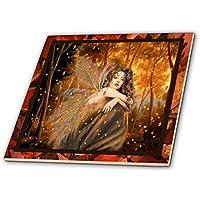 スーザンブラウンデザインエンジェルまたはフェアリーテーマ–Forest Fairy–タイル 6-Inch-Ceramic ct_14865_2