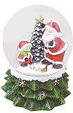 丸和貿易 クリスマス スノードーム オルゴール サンタ&スノーマン 400785000