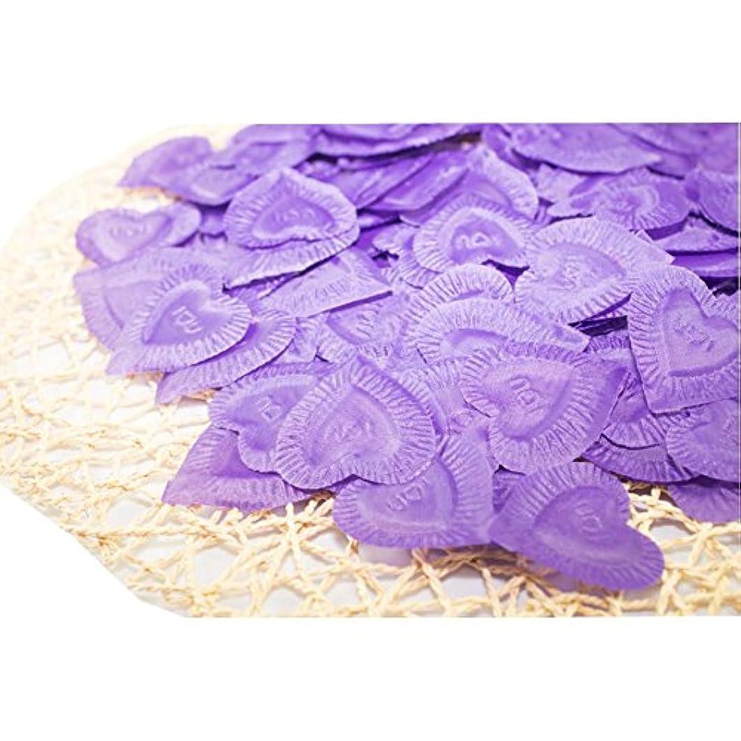 混雑不定暫定結婚式のための人工花びら紫840個