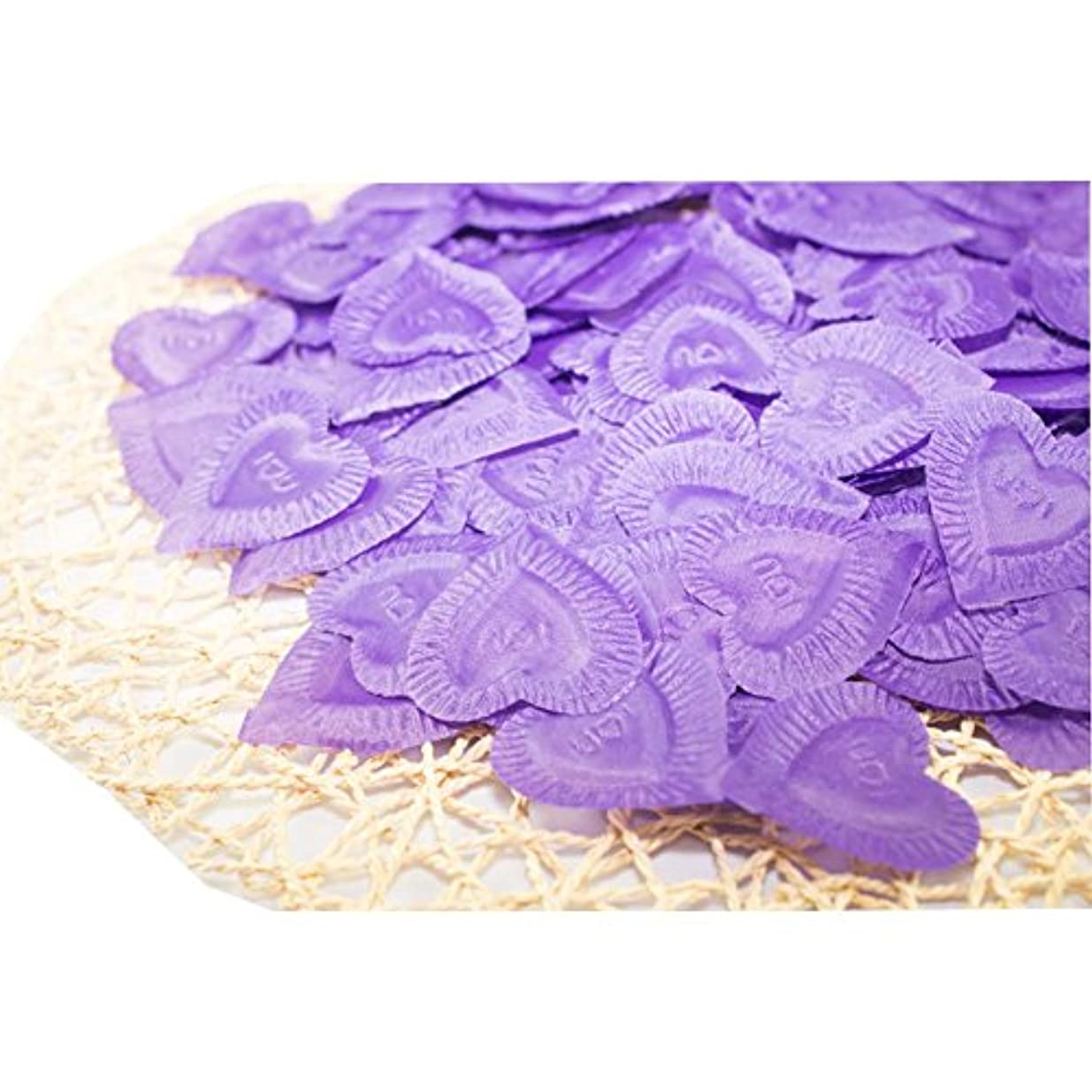 二年生インスタンス防止結婚式のための人工花びら紫840個
