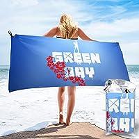 グリーン・デイ Green Day バスタオル 速乾タオル Towel マイクロファイバー 瞬間吸水 ふわふわ 肌触りが優しい 軽量 80×160cm 70×140cm 水泳/スポーツ/旅行/家庭用