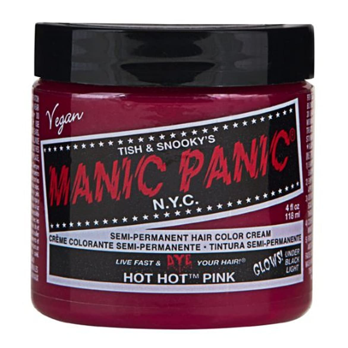 事前にやりすぎオーバードローマニックパニック MANIC PANIC ヘアカラー 118mlホットホットピンク ヘアーカラー
