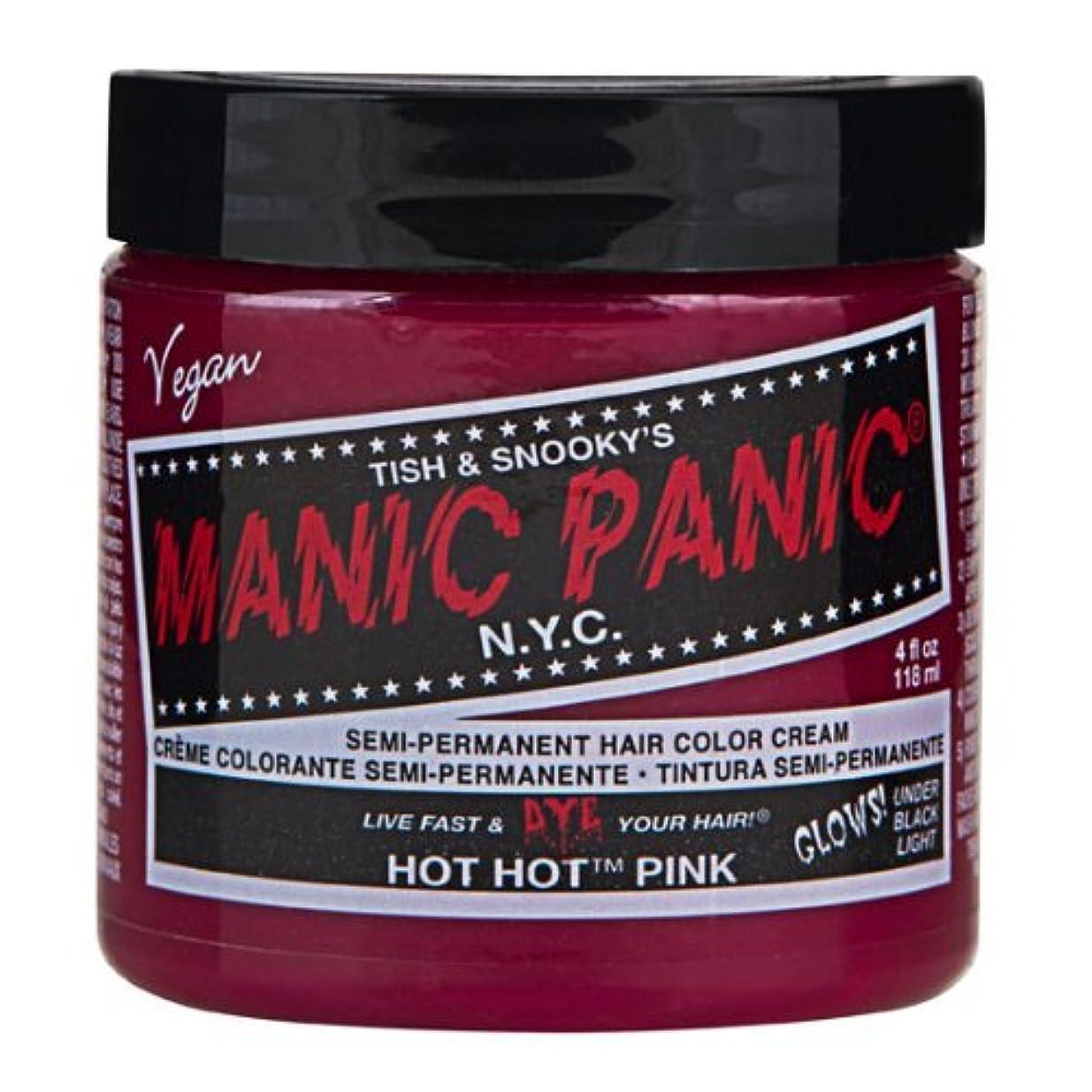 浸漬透けて見える改善するマニックパニック MANIC PANIC ヘアカラー 118mlホットホットピンク ヘアーカラー
