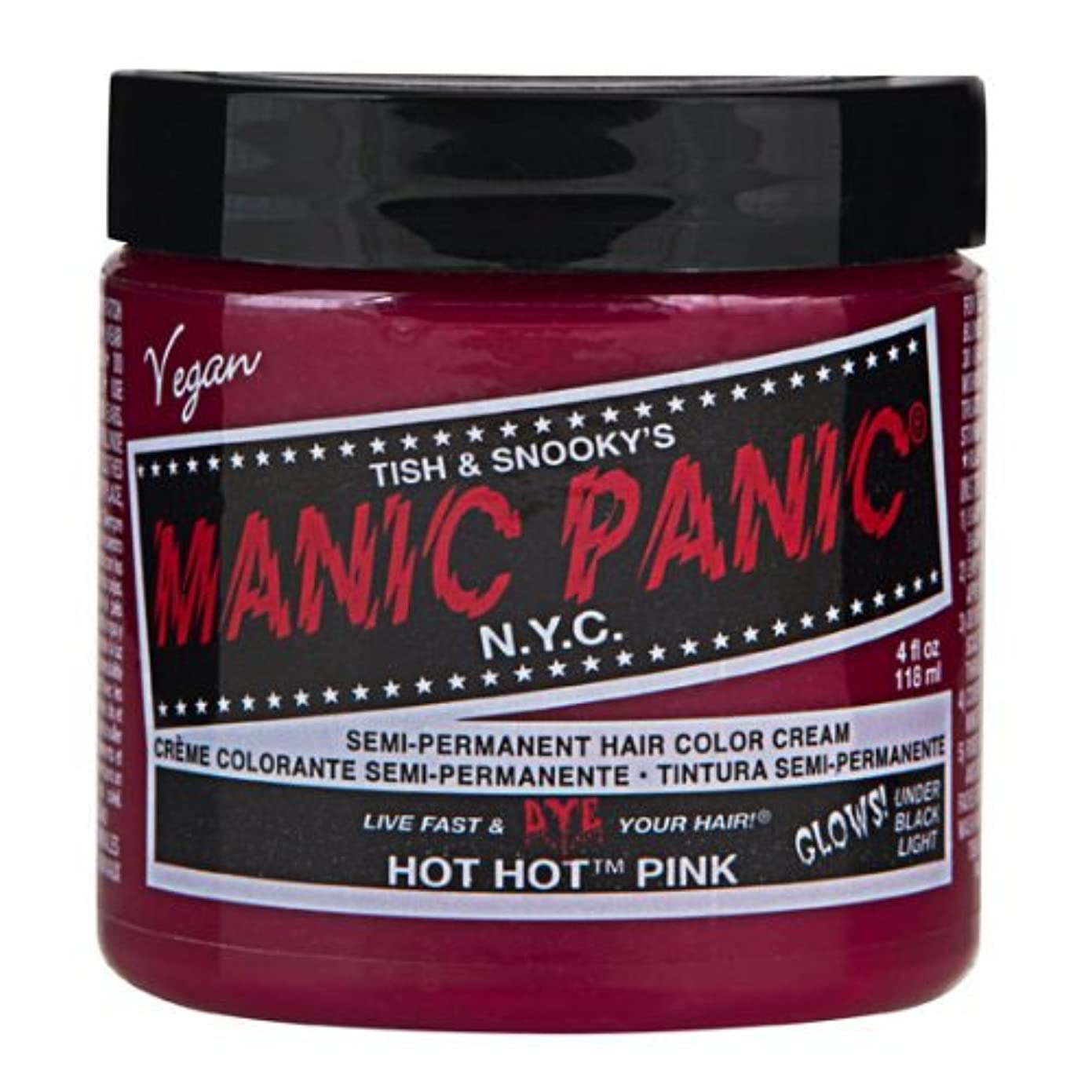 候補者ヒューマニスティックアミューズメントマニックパニック MANIC PANIC ヘアカラー 118mlホットホットピンク ヘアーカラー