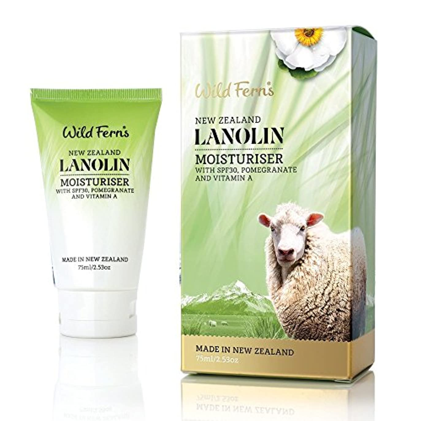 Wild Ferns Lanolin モイスチャライザーwith SPF 30 75ml
